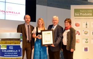 Columella II erhält den Innovationspreis bei Bayerns beste Bioprodukte