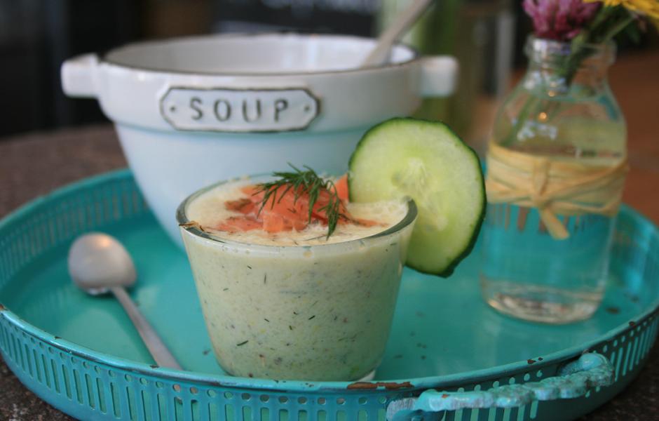 Kalte Gurken-Senf-Suppe